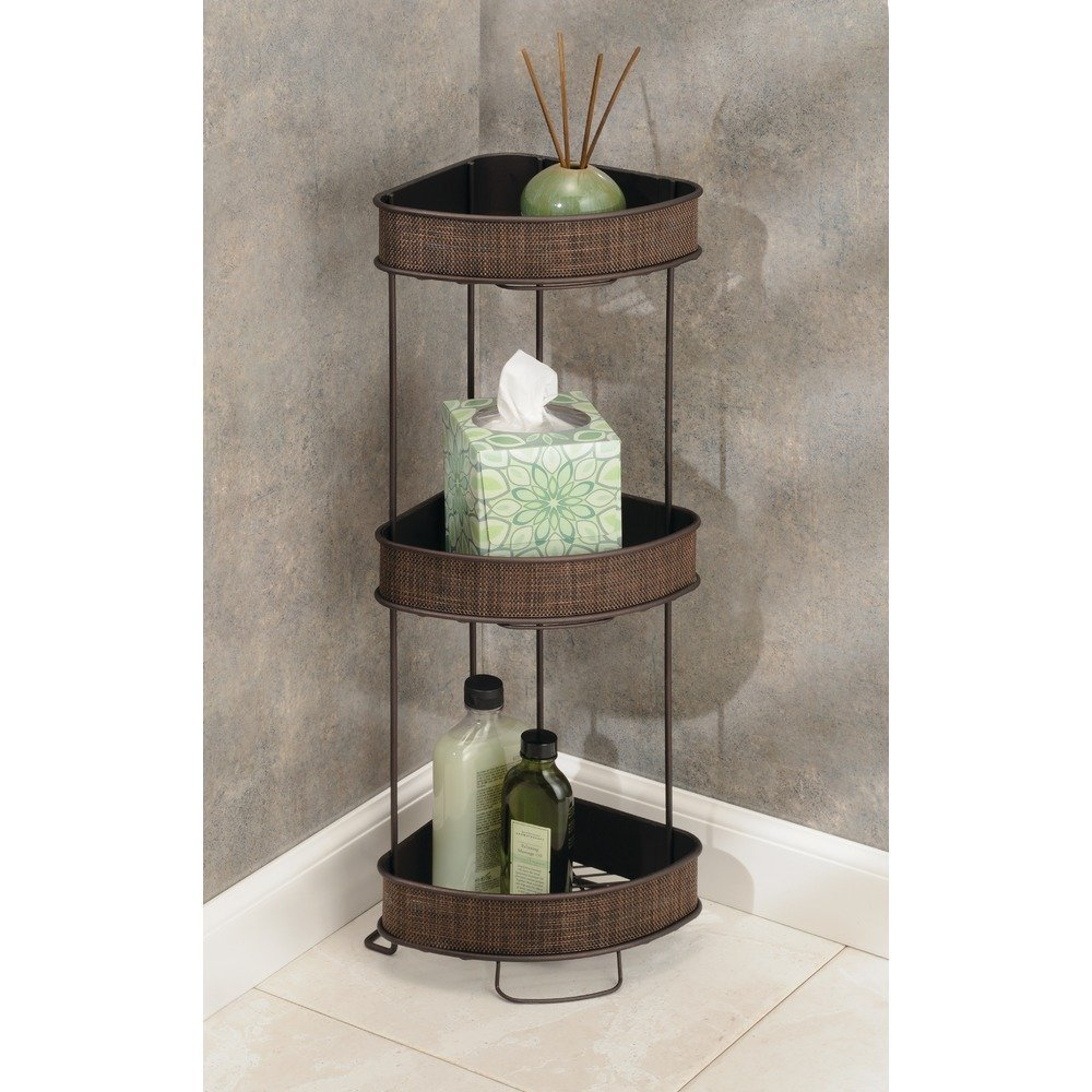 Amazon.com: InterDesign Twillo Free Standing Bathroom Corner Storage ...