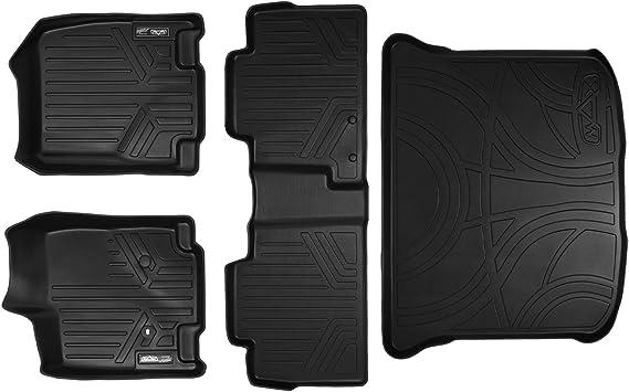 MAXLINER Floor Mats 2 Row Liner Set Tan for 2007-2010 Ford Edge//Lincoln MKX
