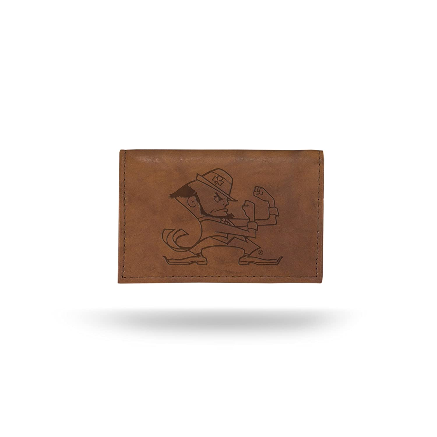 NCAA Notre Dame Fighting Irish Leather Trifold Wallet with Man Made Interior