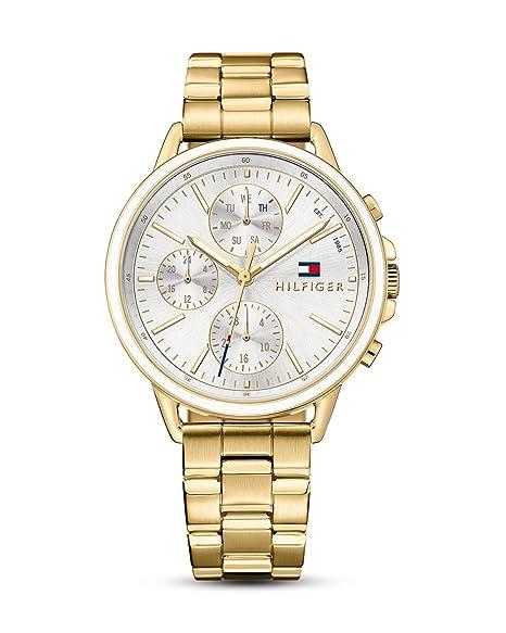 Tommy Hilfiger Reloj Multiesfera para Mujer de Cuarzo con Correa en Acero Inoxidable 1781786: Amazon.es: Relojes