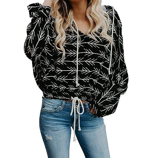 cd24f77c496 Cute Sweatshirts for Teen Girls Crop Top Women Casual New Print Long Sleeve  Hooded Pullover Hoodie