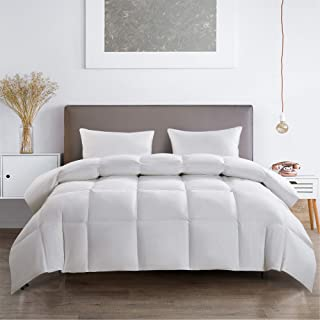product image for Serta 233 Thread Count White Feather Goose Down Fiber Light Warmth Comforter, Full/Queen
