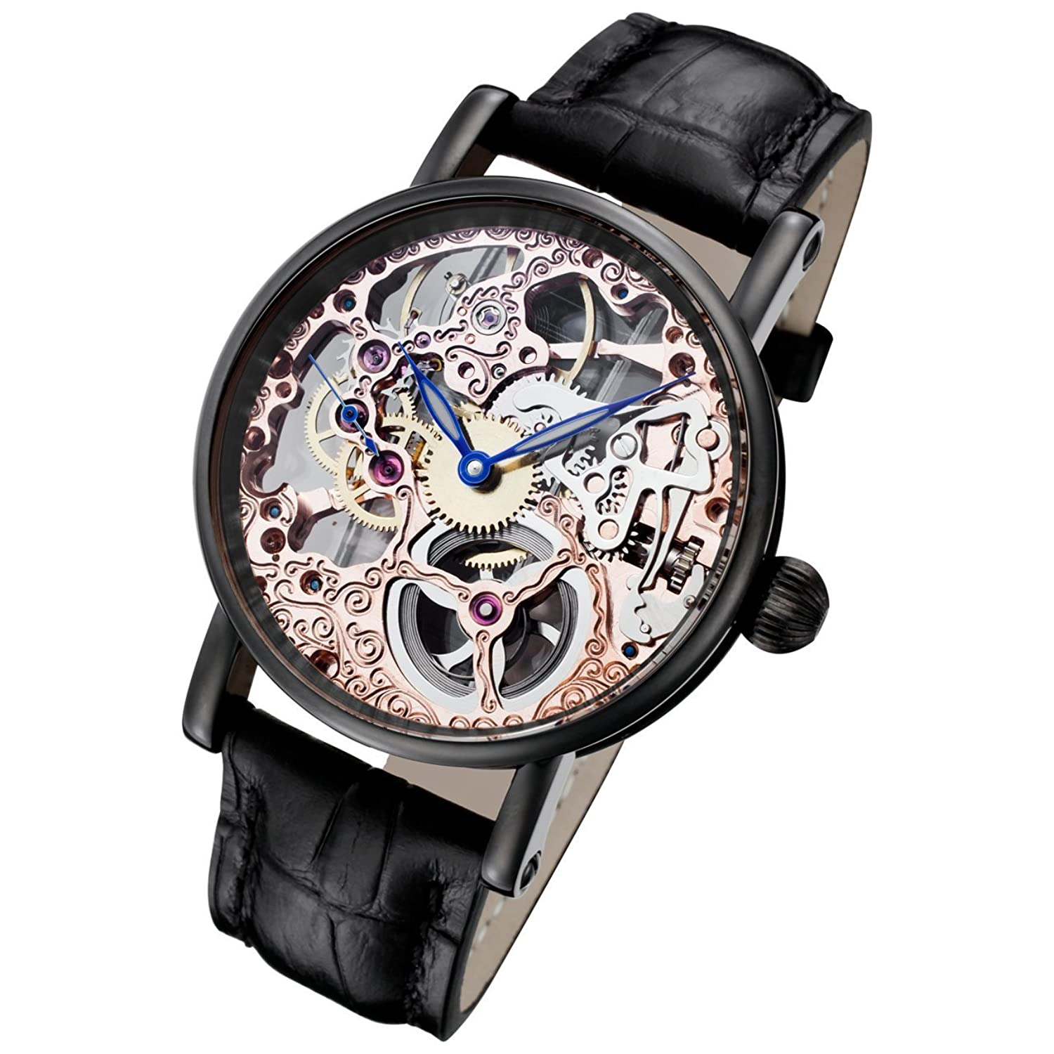 Rougois Tattoo Rose Gold Mechanical Skeleton Watch RS10004
