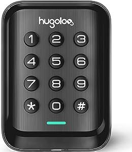 Entry Door Locks with Keypads, Keyless Deadbolt Door Locks, Slim Electronic Deadbolt Lock, Auto Lock, Easy to Install, Battery Backup, Lighted keypad, for Garage or Side Door, Matte Black