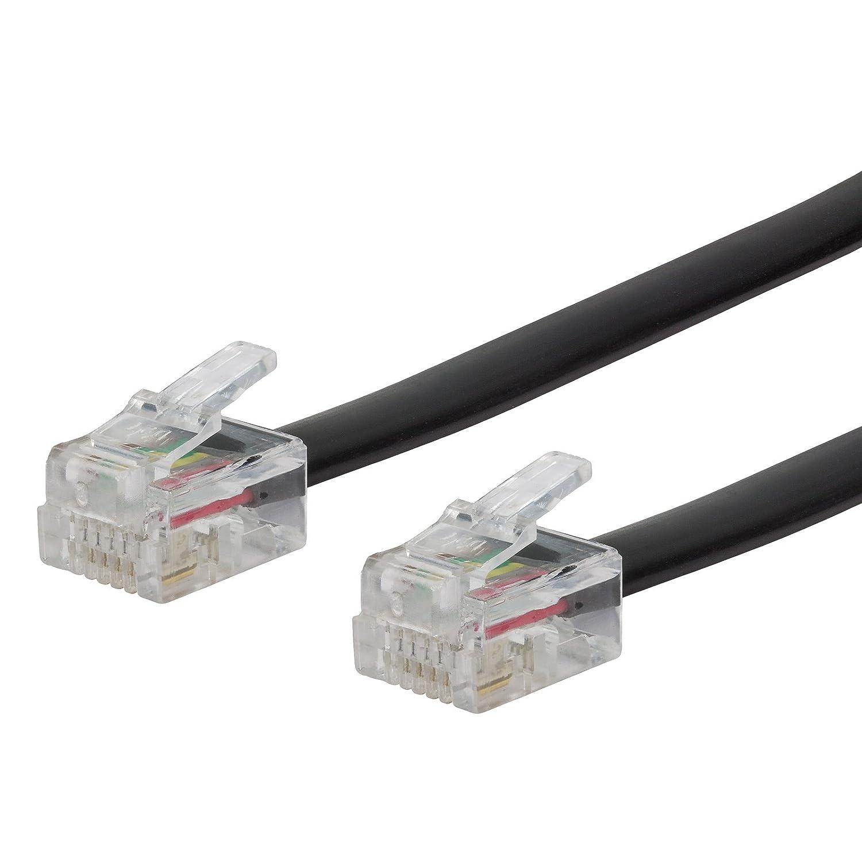 Direktanschluss von DSL-Routern an die Telefondose schwarz ecabo 10061 1m TAE-F Stecker auf RJ45-Stecker Anschlusskabel VDSL//DSL Flachkabel f/ür Alle Router und Modems Routerkabel