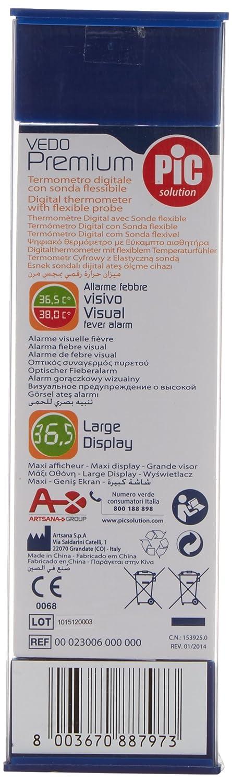 Pic Vedo Premium Termometro Digitale Con Sonda Flessibile Ed Allarme