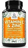 Vitamina C 1200 mg y Zinc 40 mg - 120 Cápsulas Vegetarianas - Mantener un Sistema Inmunológico Saludable - 2 Cápsulas al día - Hecho en UK por Nutravita