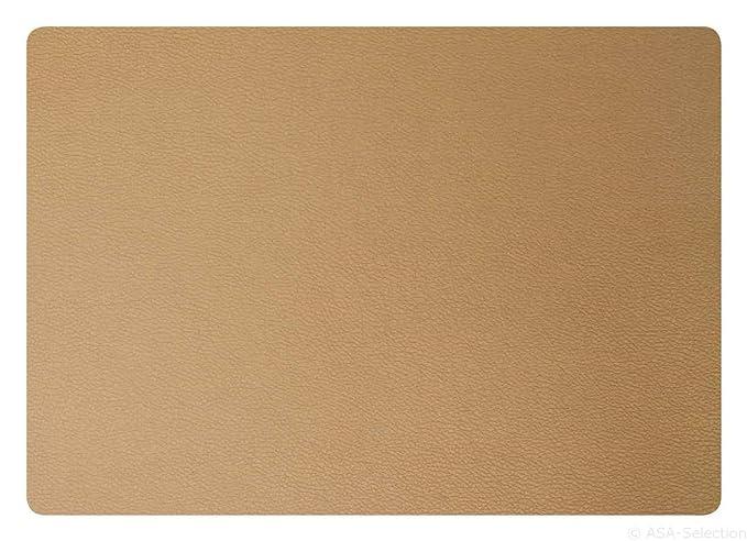 ASA Selection Table Tops Tischläufer Lederoptik Kunstleder Magnolienrot B 50 cm