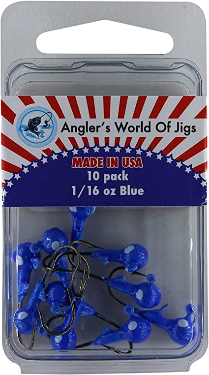 CRAPPIE JIGS 10 PK EAGLE CLAW BALL HEAD JIGS 1//16 OZ BLACK