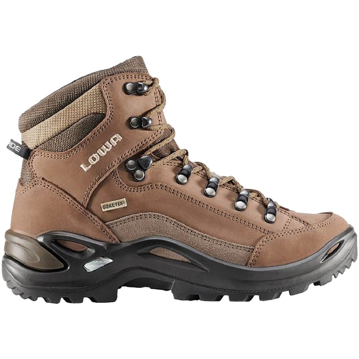 Lowa Womens Renegade GTX Mid Boots Wide Taupe/Sepia Size 7.5 Wide