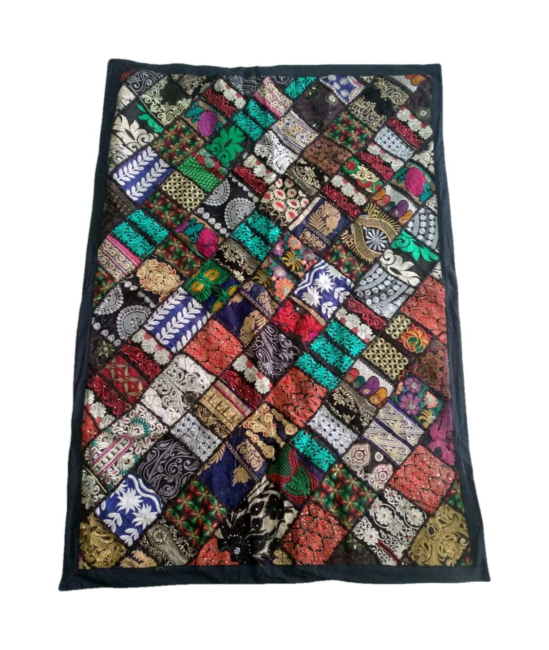 Diwan Cover Beach Throw AdhritCreations Patchwork Tapestry for Wall Hanging Table Cover