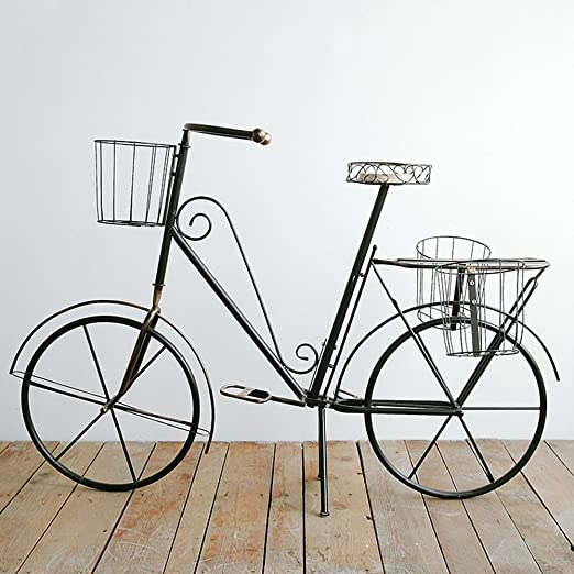 Estilo europeo creativo hierro bicicleta flores accesorio de pisos/floor-style multiusos flor maceta Rack/decoración de hogar tienda de flores balcón: Amazon.es: Jardín