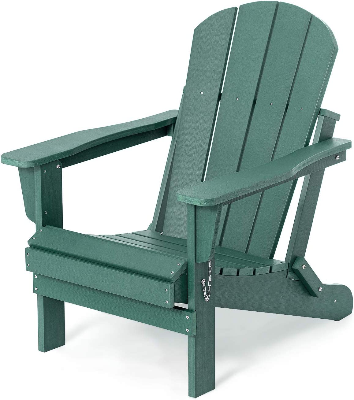 Folding Adirondack Chair Patio Chairs Lawn Chair Outdoor Chairs Painted Adirondack Chair Weather Resistant for Patio Deck Garden, Backyard Deck, Fire Pit & Lawn Furniture Porch and Lawn Seating- Green