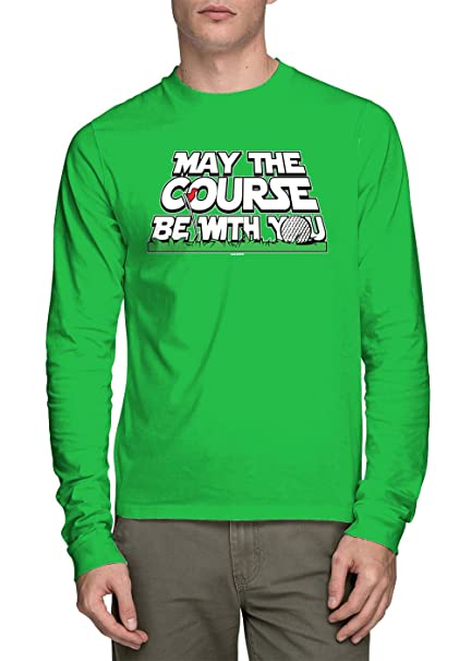329f8b76 Image Unavailable. Image not available for. Color: HAASE UNLIMITED Long  Sleeve Men's May The Course Be with You Shirt ...