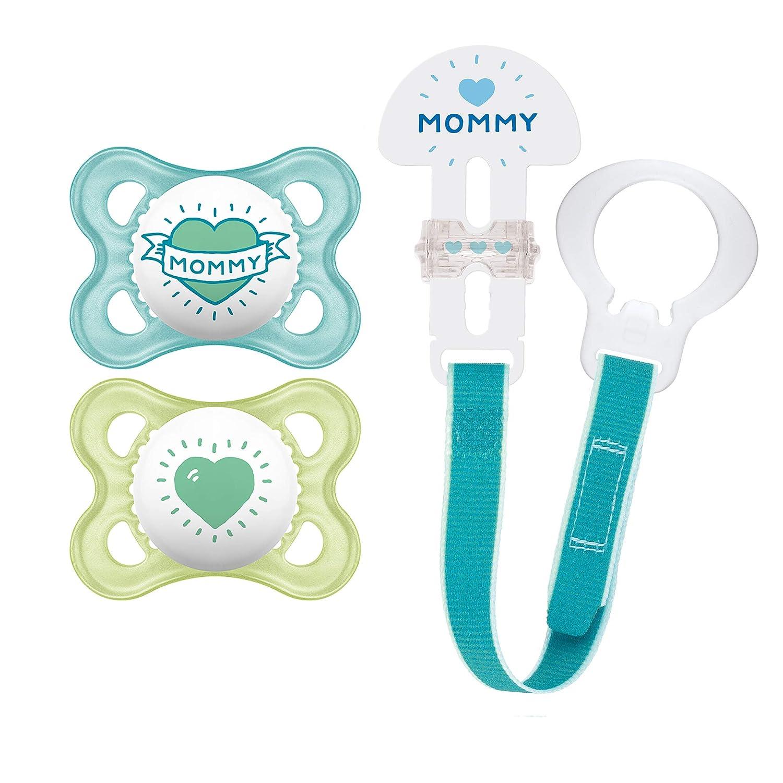 0-6 meses chupete para beb/é de silicona especial MAM SkinSoft con caja para chupete MAM Juego de 2 chupetes Perfect para un desarrollo saludable de los dientes y la mand/íbula oso // dinosaurio