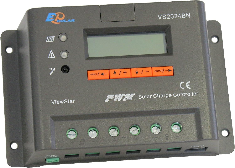 20A MPPT Solar Charge Controller Solar Battery Regulator Power 12V//24V Household