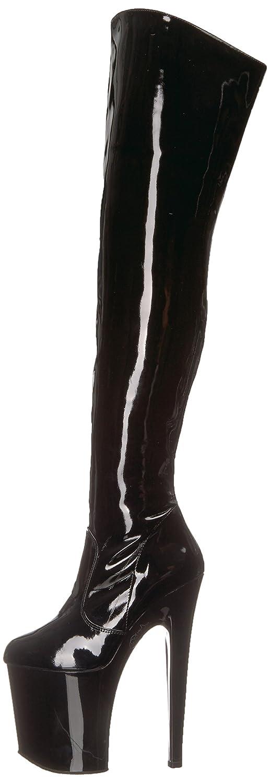 Pleaser Women's Xtreme-3010 Over The Knee Boot B000XUPEBM 13 B(M) US|Black Patent/Black