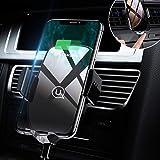 Chargeur sans Fil,Support Téléphone Voiture Portable Auto Inductif Fort pour Samsung Galaxy S10/S10+/S9/S9+/S8/S8 Plus/S7/S7 Edge/Note 9 8 5,iPhone XS Max XR/8 Plus,et Tout Qi-Enabled Téléphone