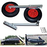 """SEAMAX Easy Load Boat Launching Wheels Set for Inflatable Boat & Aluminum Boat, with 12"""" Pneumatic Tire & Quick Released…"""