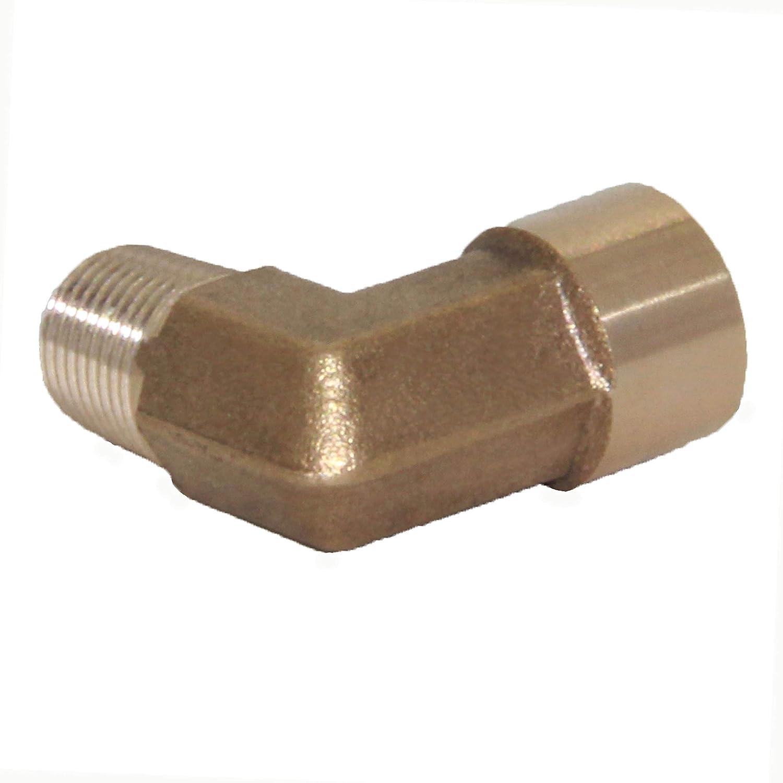 Joywayus 2pcs Brass Elbow Pipe Fittings 1//8 NPT Male to 1//8 NPT Female