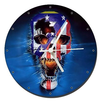 Atletico De Madrid Calavera Skull Reloj de Pared Wall Clock 20cm