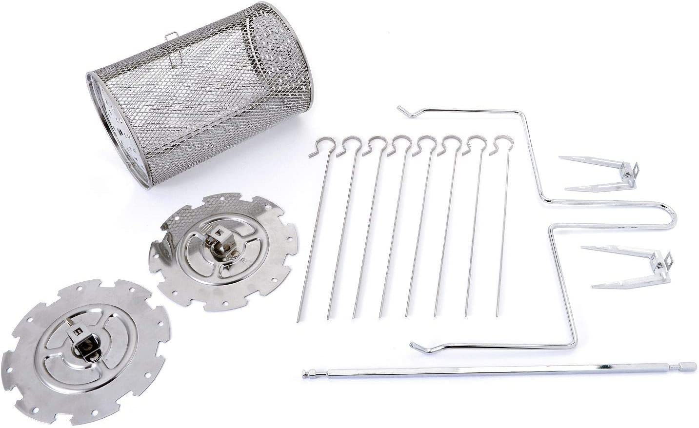 Paula Deen Air Oven Accessory Kit, Compatible with Paula Deen 24 QT Air Fryer Oven, Includes Rolling Cage, 8 Skewers, Skewer Rack, Rotisserie Rod, Rotisserie Forks, Removal Handle for Rotisserie