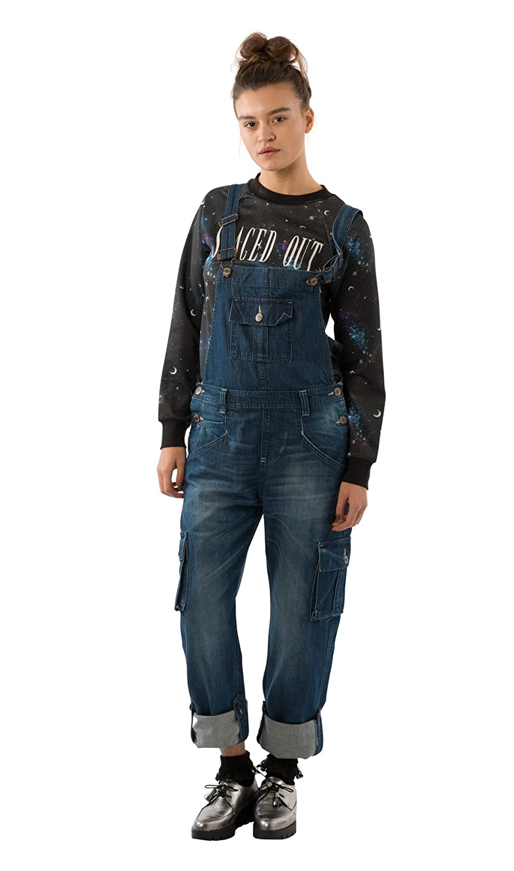 USKEES Daisy Peto Corte Loose - Azul Oscuro Peto de Moda DAISYDARK