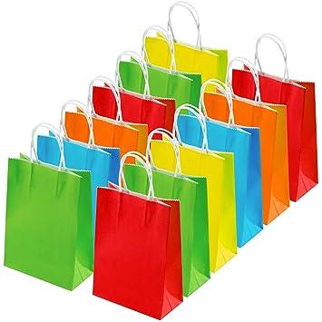 Amazon.com: Coobey 25 bolsas de papel kraft para regalo de ...