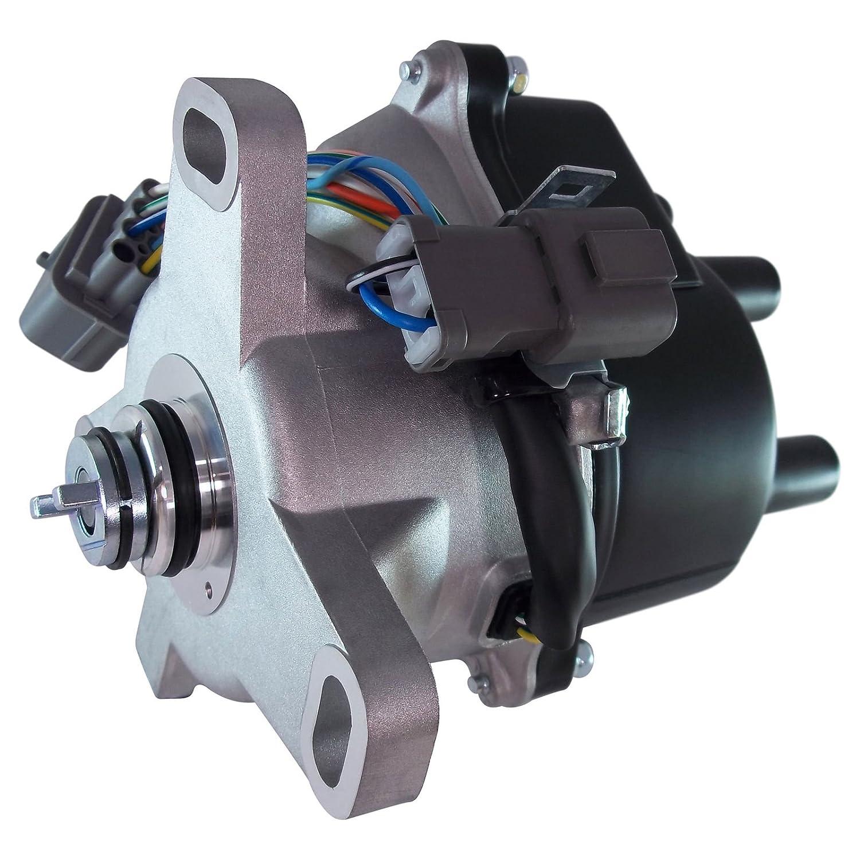 Ignition Distributor For 92 95 Honda Civic 15l 16l 94 Prelude Coil Wiring Diagram Vtec Fits D16z6obd1 Td 42u Td42u Automotive