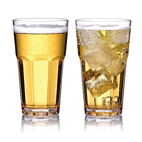 MICHLEY Irrompible Vasos de Cerveza, Copas para degustación de Zumo de Frutas, 100%