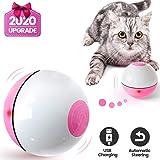 Iokheira Bola de Gato, Juguetes para Gatos,Carga USB Juguete Gato Automática, Bola Eléctrica de 360 Grados Juguete Interactivo con luz LED para Ejercicio Gatos y Perros