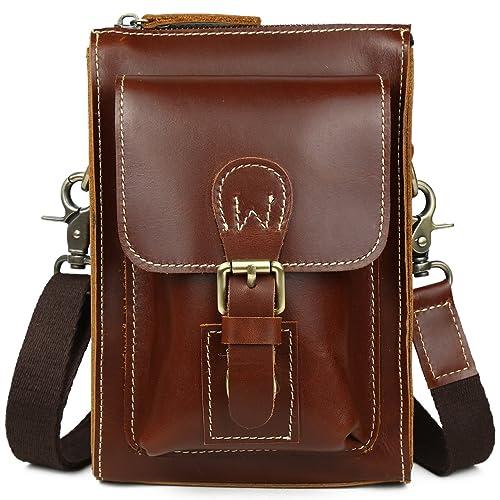 ce622b95c22a Amazon | [(チョウギュウ) 潮牛] レトロ 本革 メンズ ウエストバッグ ...