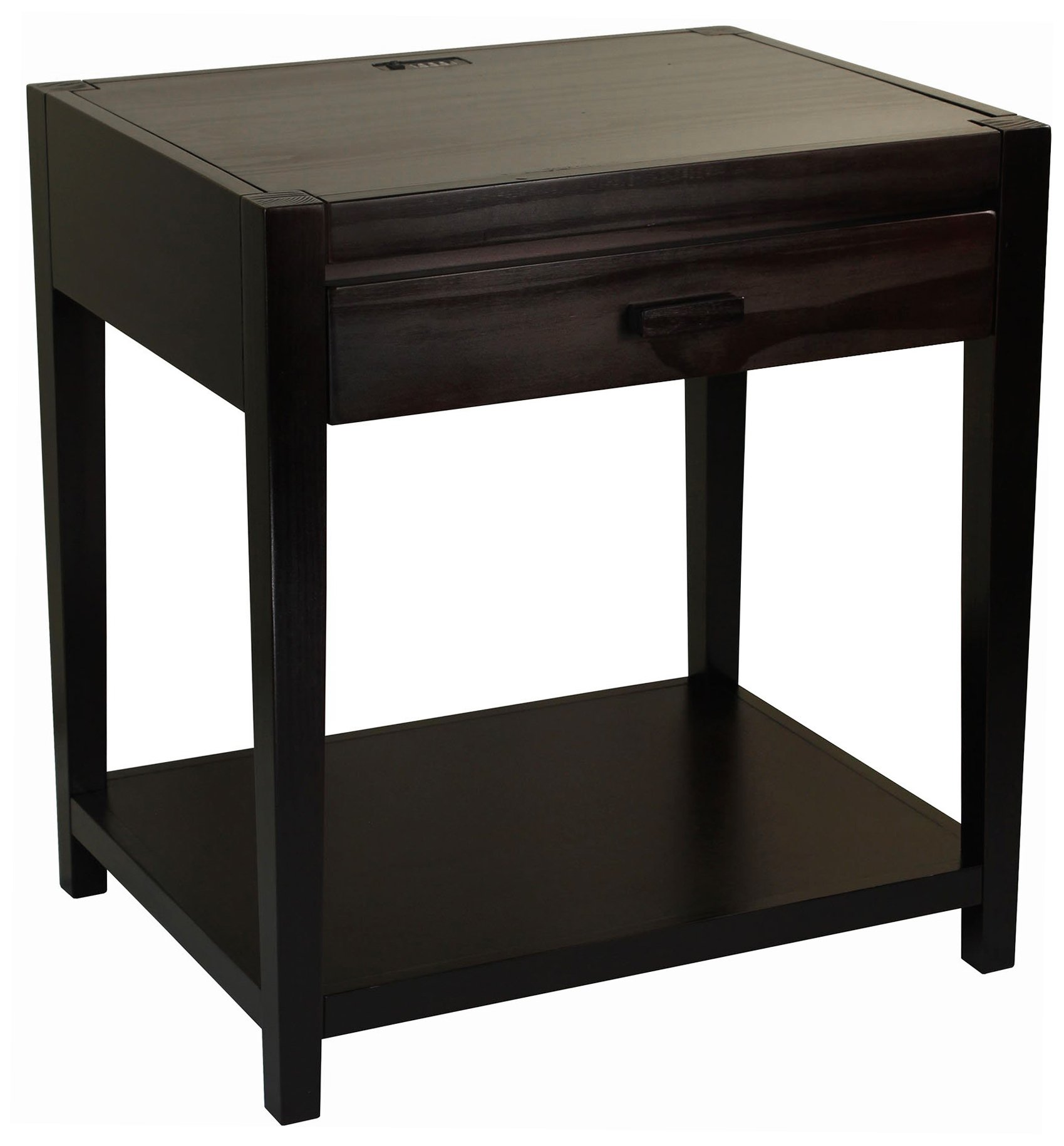 Casual Home 649-23 Notre Dame Nightstand with USB Ports-Espresso