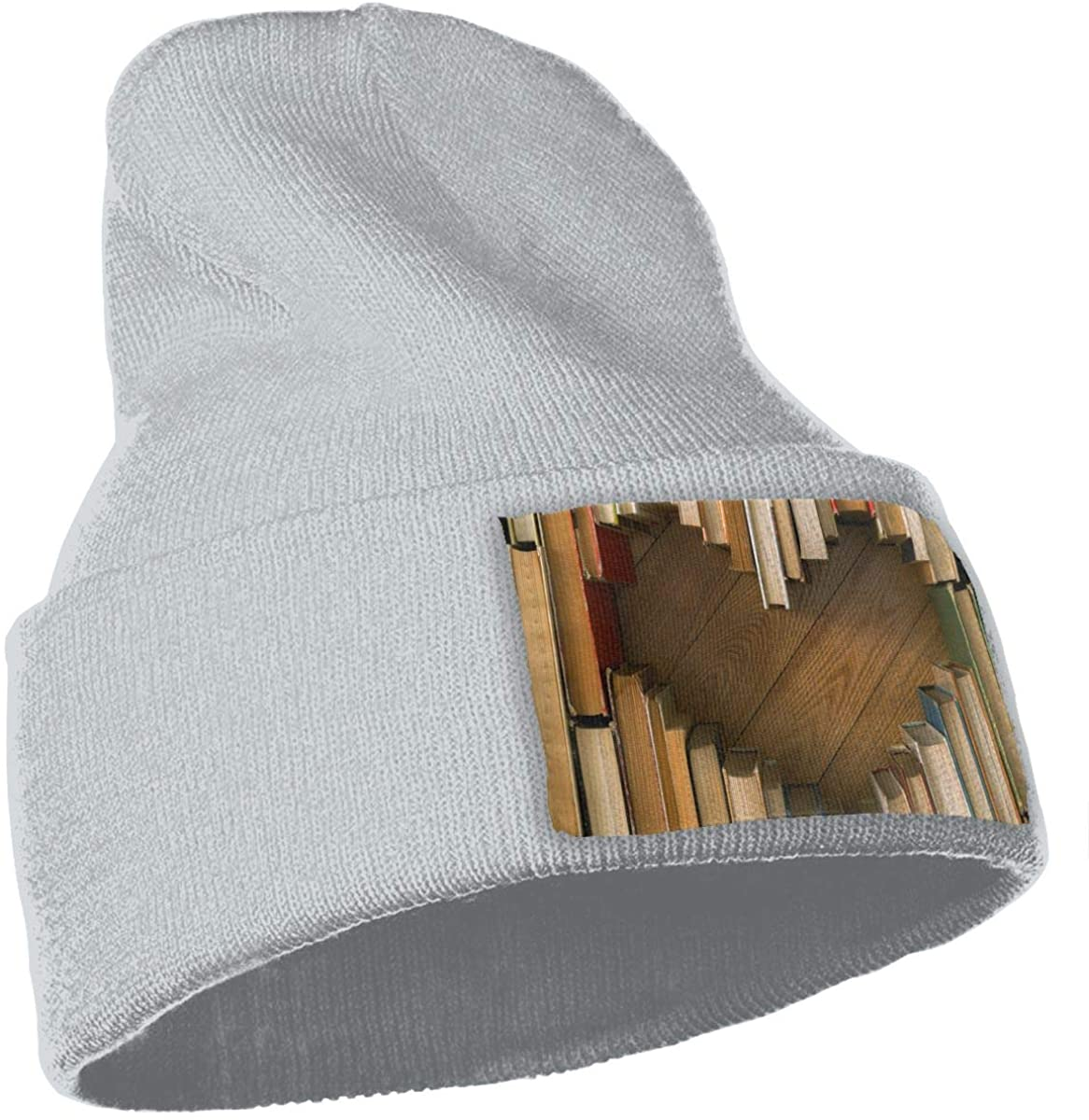 Love Concept of Heart Shape from Old Vintage Books On Wooden Floor Background Unisex Fashion Knitted Hat Luxury Hip-Hop Cap