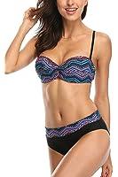 beautyin Women Tribal Push Up Two Piece Bikini Swimsuits Bandeau Bathing Suits