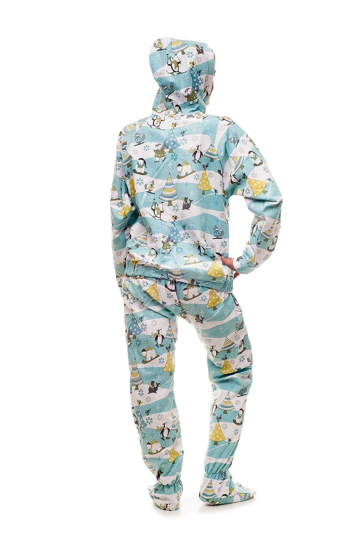 2bc0fdb16 Amazon.com  Christmas Morning Kajamaz  Adult Footie Pajamas  Clothing