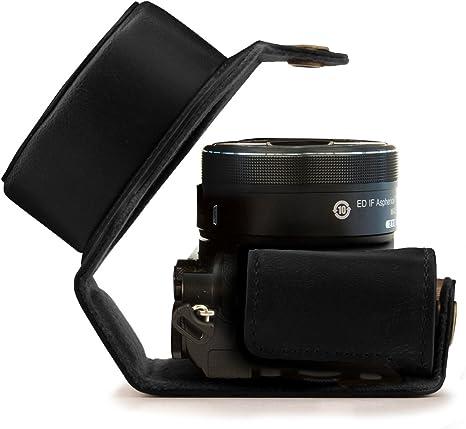MegaGear - Bolsa de Cuero para cámara de Fotos Nikon 1 J5 (10-30 mm.): Amazon.es: Electrónica