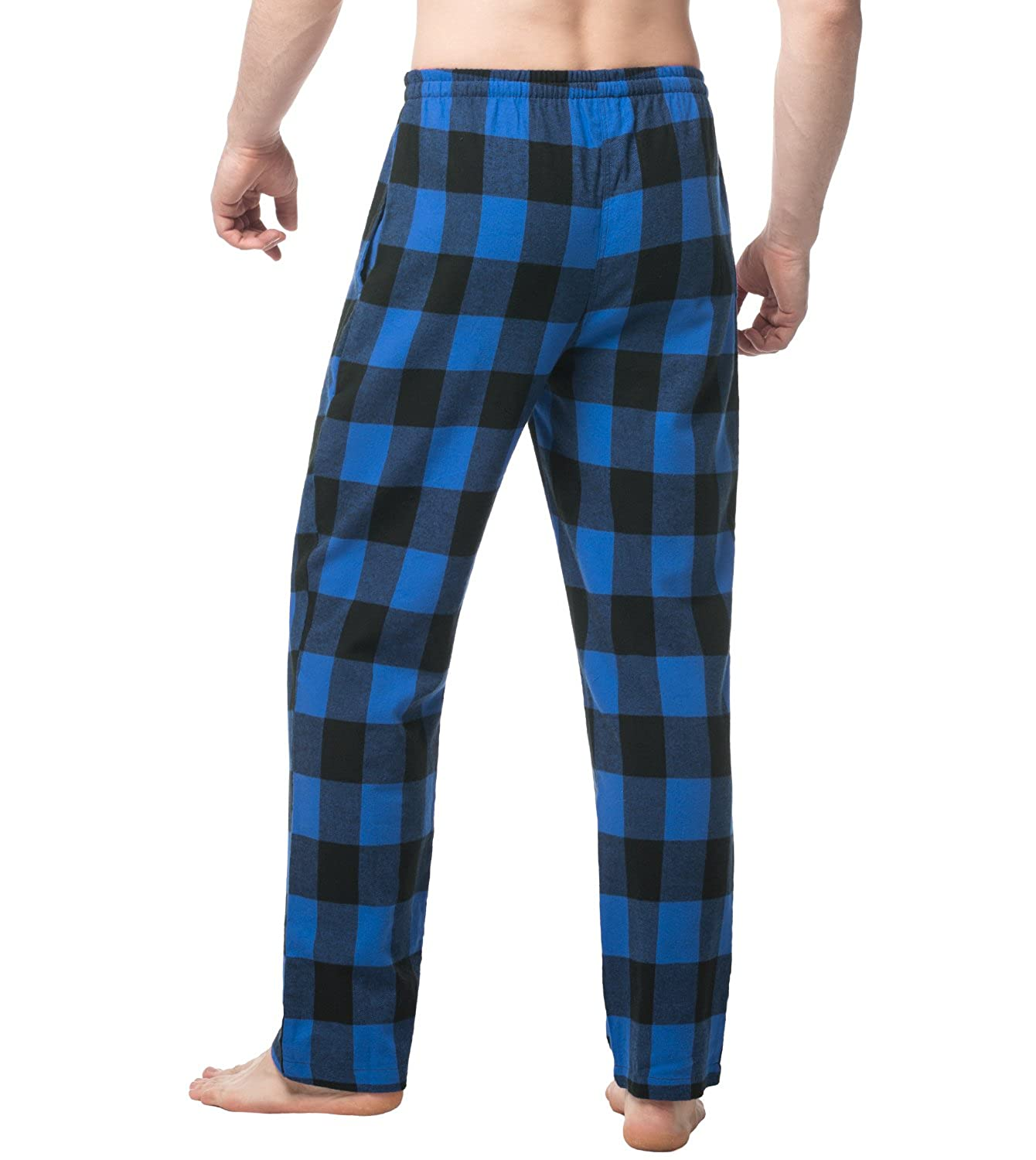 72382b18e69 LAPASA Men s 100% Cotton Woven Flannel Pajama Lounge Sleep Pants Plaid PJ  Bottoms w Pockets and Drawstring M39 at Amazon Men s Clothing store