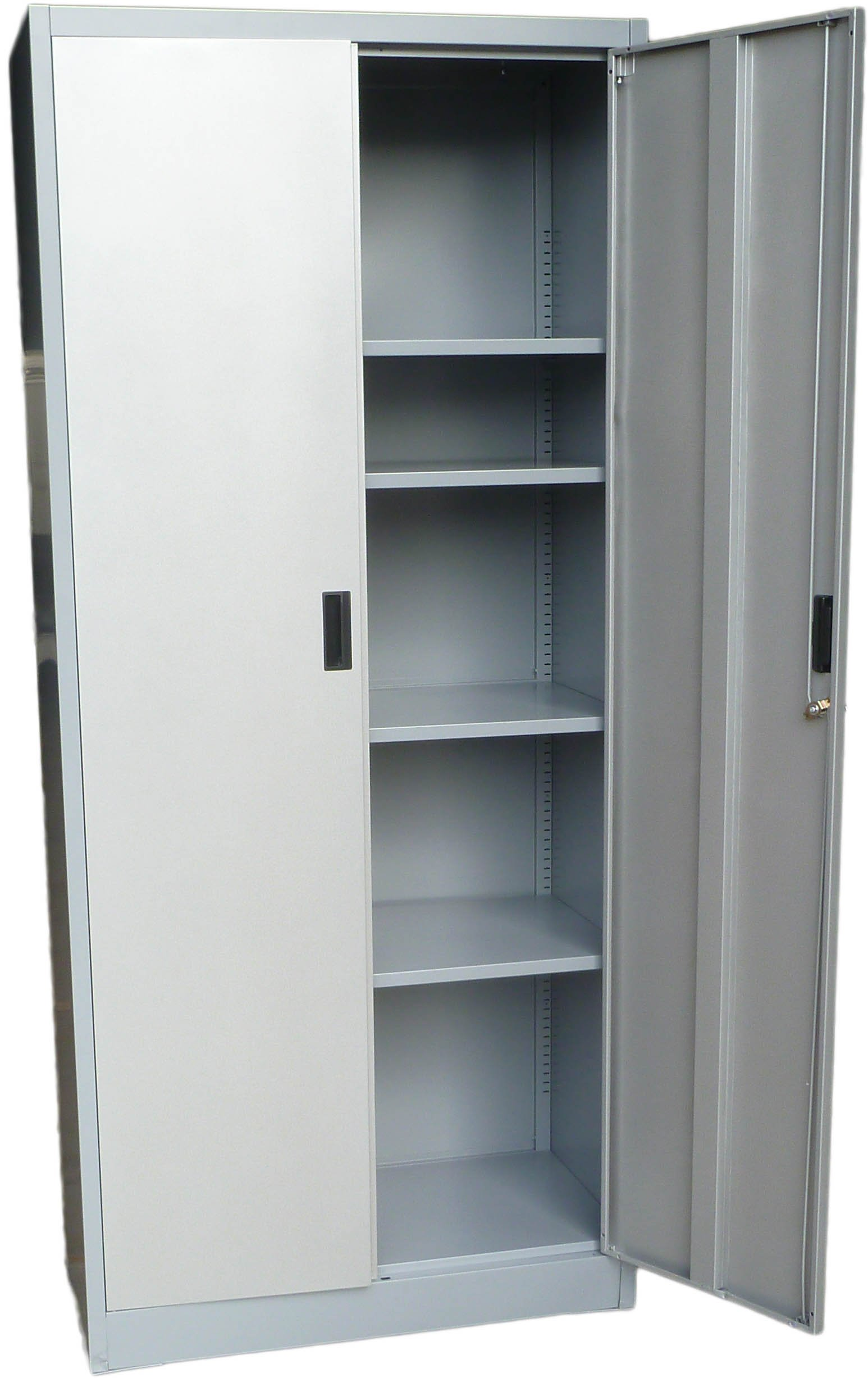Fedmax Steel Storage Cabinet 71'' Tall, Lockable Doors and Adjustable Shelves, (Choose Color) 70.86'' Tall x 31.5'' W x 15.75'' D (Gray) by Fedmax