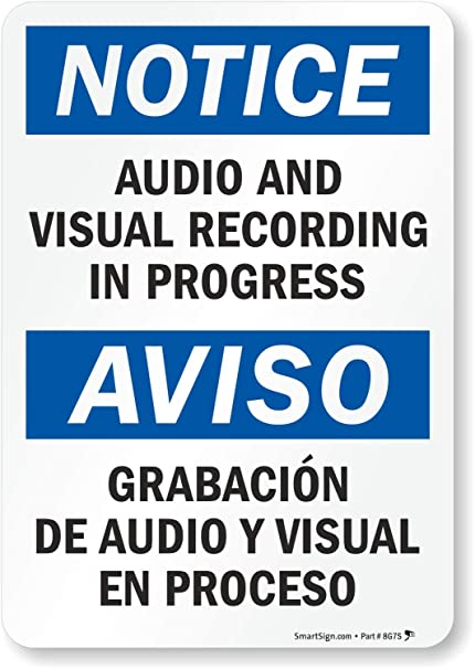 Amazon.com: Aviso: y visual de audio grabación en el ...