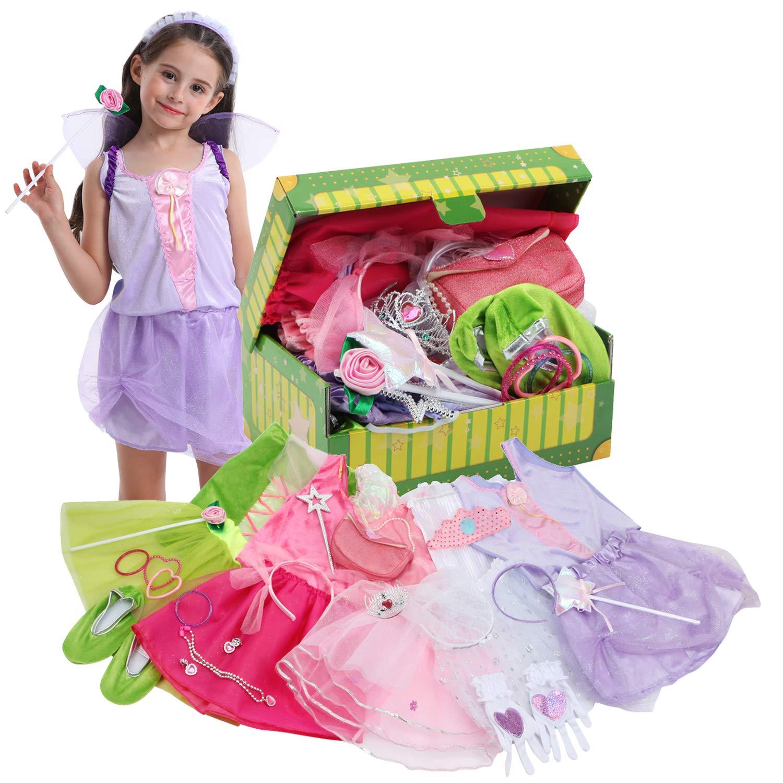 Girl Dress Up Princess Fairy Costume Set Pink Fairy Costume for Girls Girl Fairy Costume Set Pink Fairy Costume Set