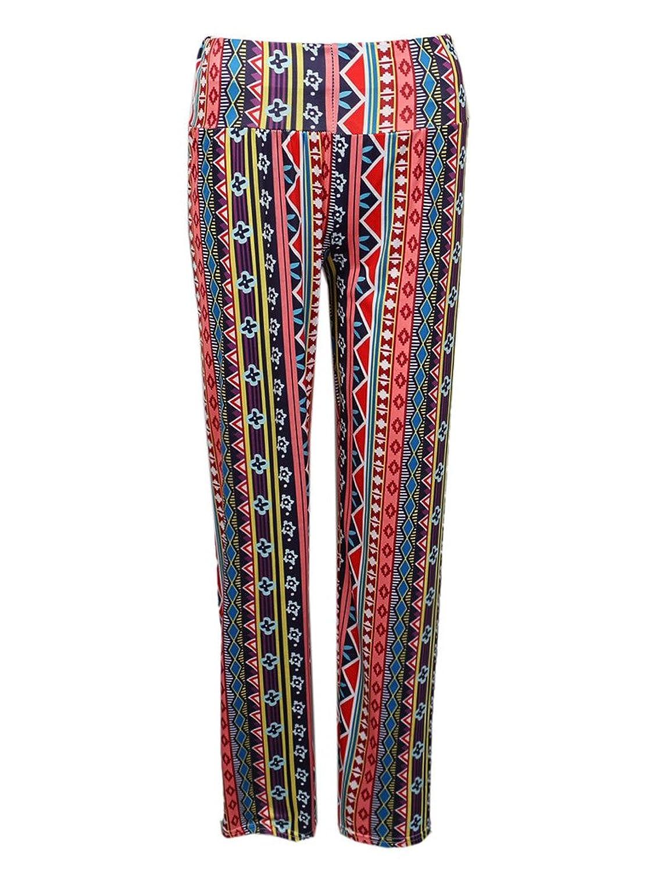 Clothink Women Multicolor Print Straight Pants