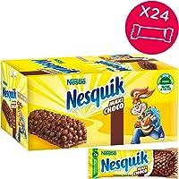 Nesquik Cereali MAXICHOCO Barretta di Cereali Integrali al Cioccolato al Latte, 24 Pezzi