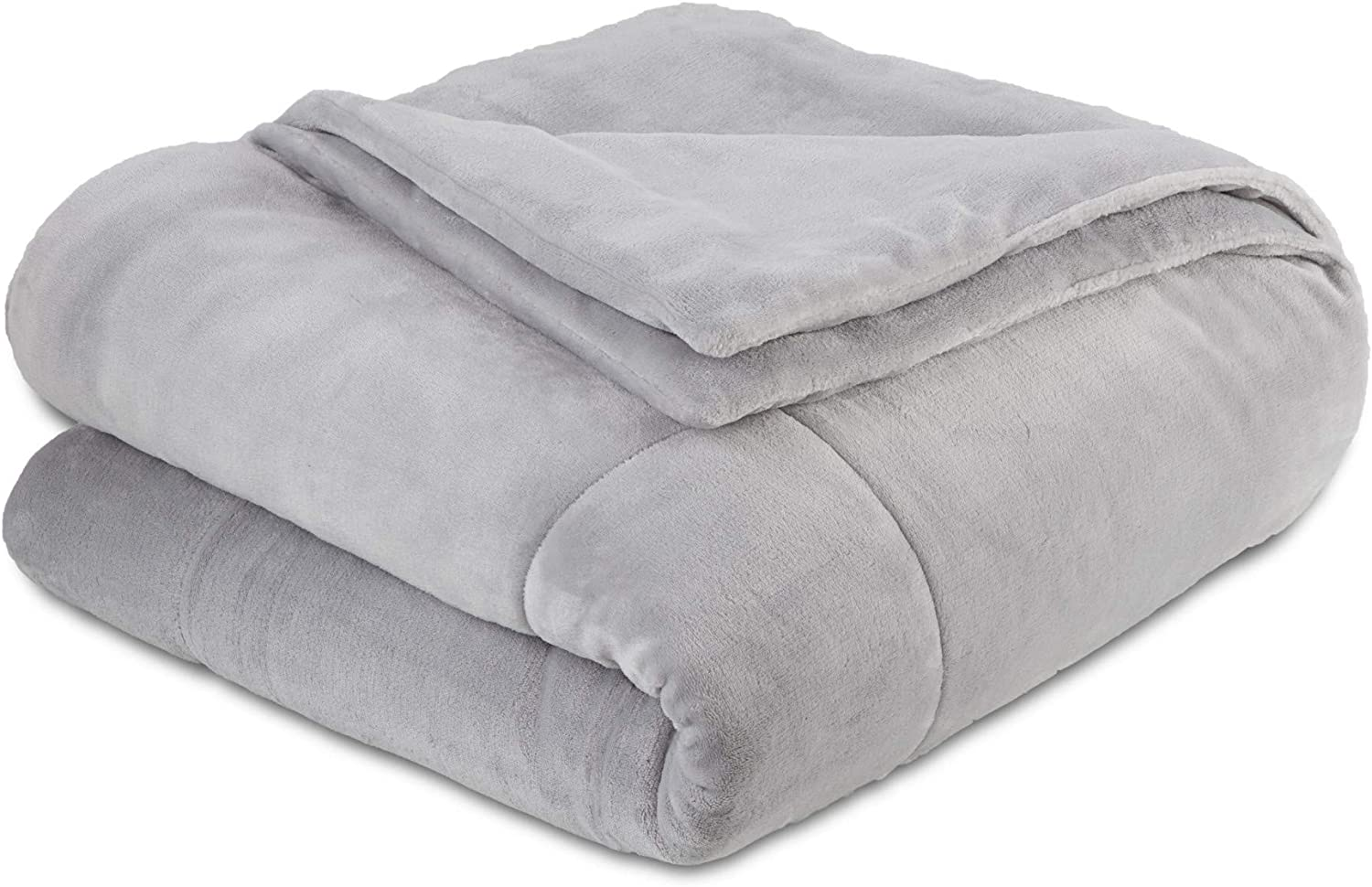 Vellux Plush Luxury Super Soft, Fluffy and Fuzzy Comfortable Lightweight, Warm and Cozy Microfiber Blanket for All Season, King, Light Grey