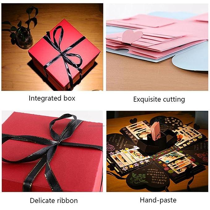 Caja explosiva de regalo de KOBWA, caja de regalo de amor DIY, sorpresiva, creativa, álbum de fotos para regalo de cumpleaños