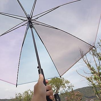 Colorido paraguas pequeño paraguas transparente simple fresco del arco iris Corea paraguas paraguas transparente paraguas transparente