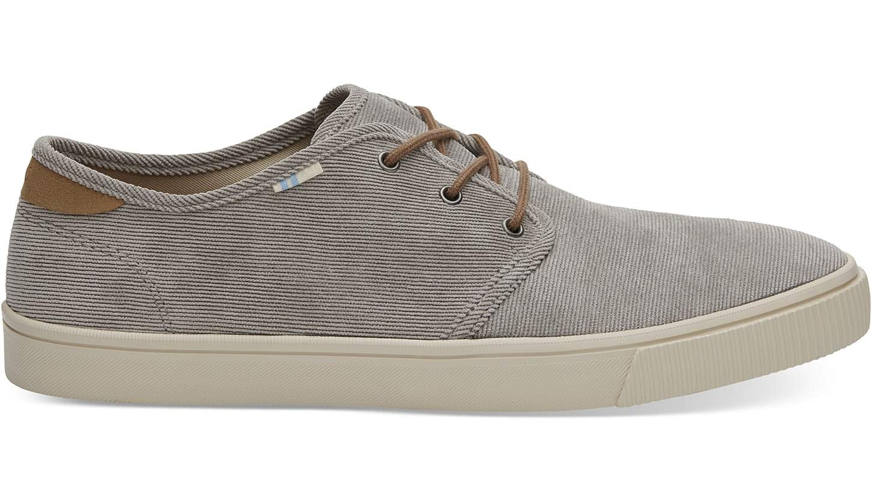 TOMS Cement Micro Corduroy Men's Carlo Sneakers (11.5 D (M) US)