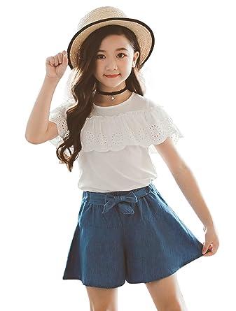 ba50cd66be32e (コーラルウェー)Coral Way セットアップ 女の子 子供 ガウチョパンツ Tシャツ+ワイドパンツ