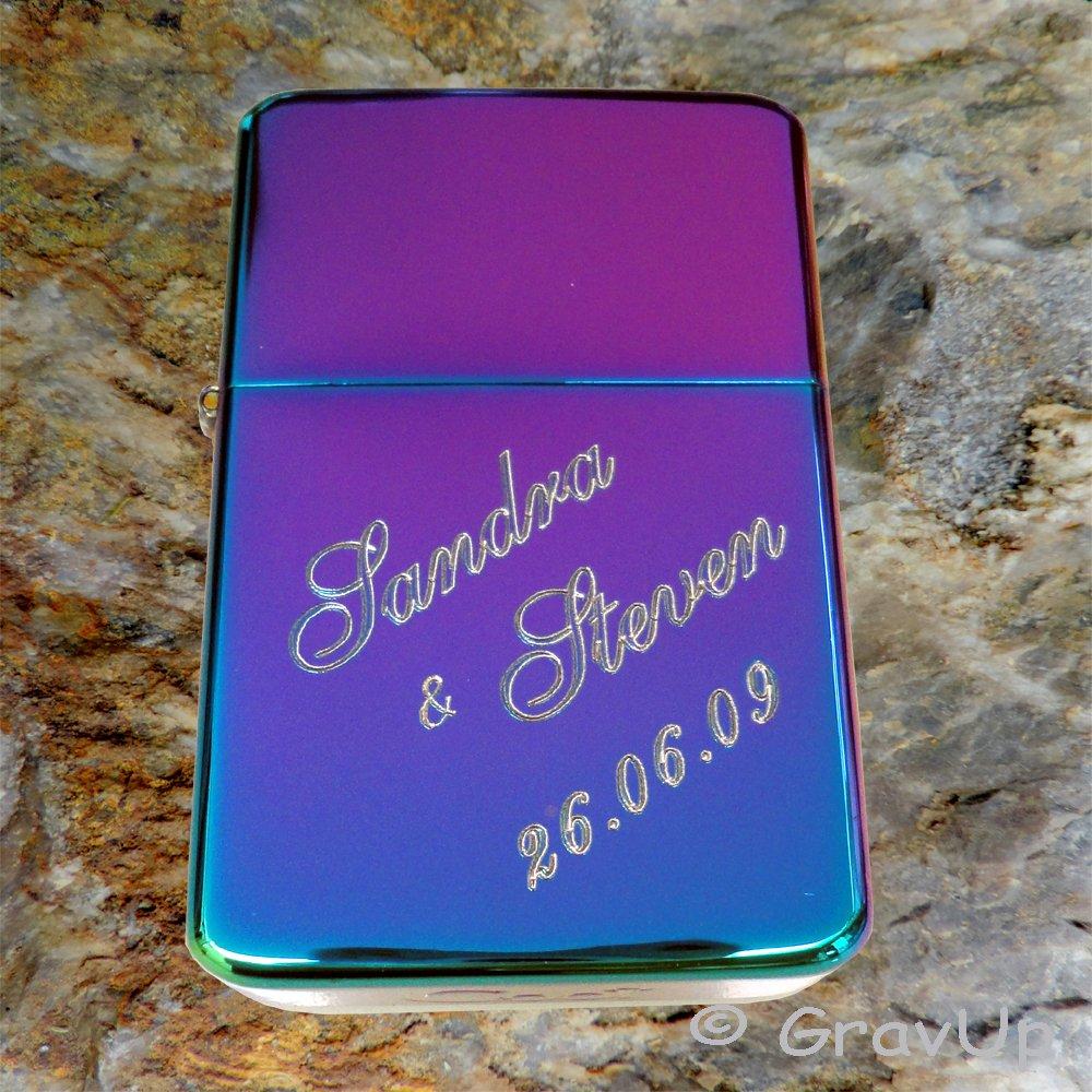 für Mama Feuerzeug Rainbow //Spectrum Ich liebe Dich Papa E-Gitarre mit Gravur