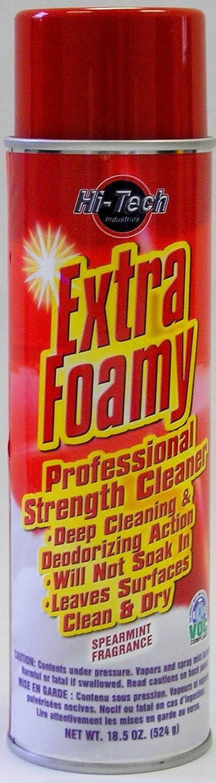 Extra Foamy Automotive Interior Cleaner - Spearmint Fragrance - 18oz Aerosol Hi Tech